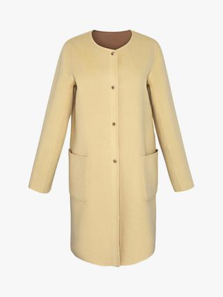 Gerard Darel Rosalia Reversible Collarless Wool Coat