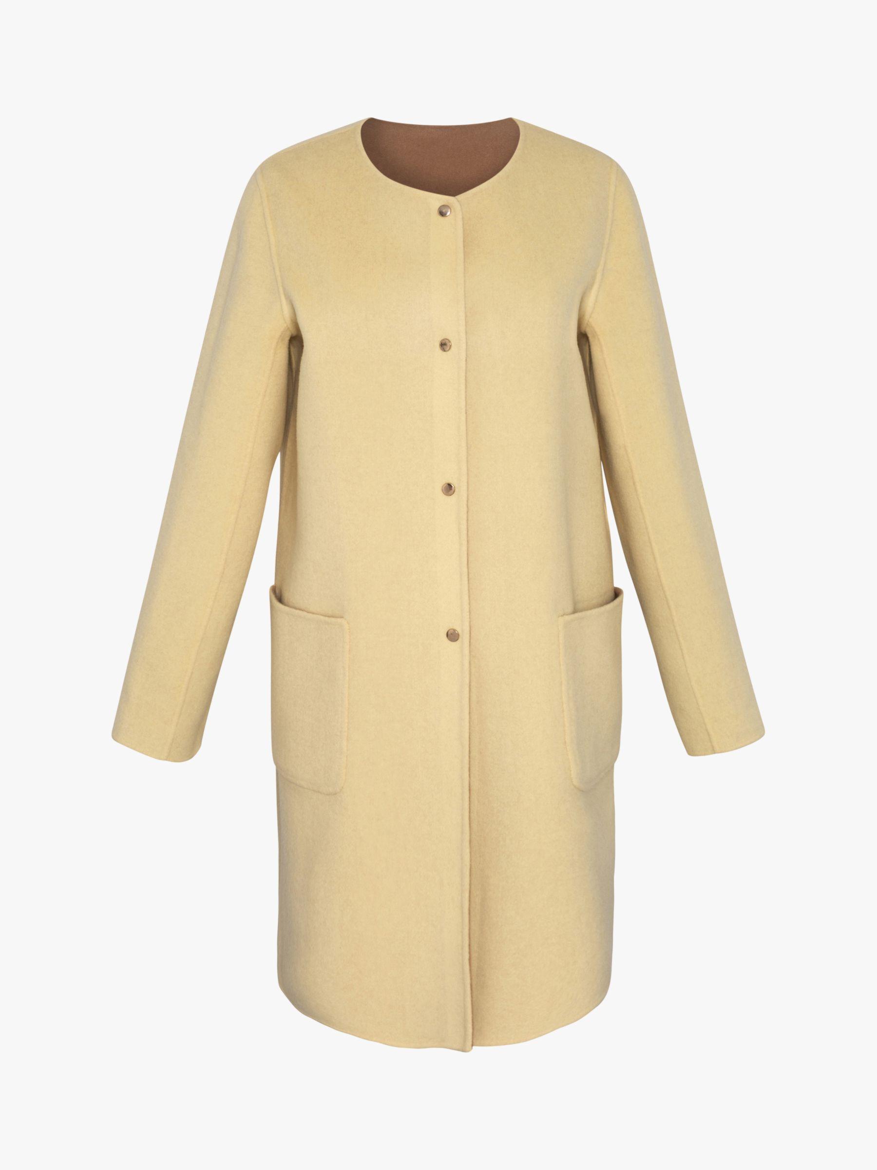 Gerard Darel Gerard Darel Rosalia Reversible Collarless Wool Coat