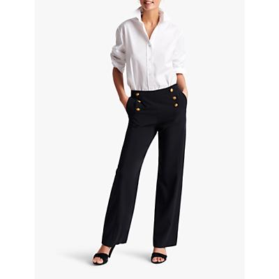 Gerard Darel Marilena Button Detail Trousers, Blue