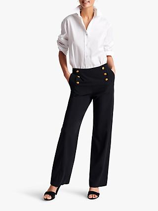 Gerard Darel Marilena Button Detail Trousers, Blue