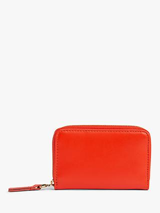 Gerard Darel XS GD Leather Zip Around Purse, Red