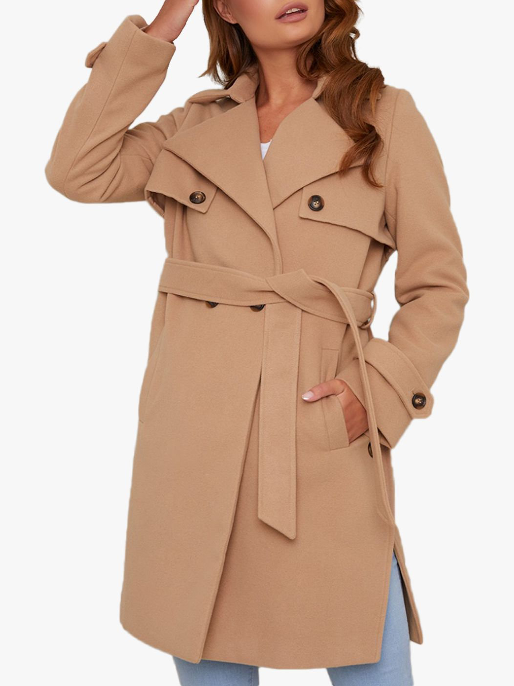 Chi Chi London Chi Chi London Cleo Coat, Camel
