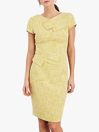 Damsel in a Dress Demelza Tweed Pencil Dress, Yellow