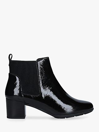 Carvela Comfort Reena Patent Leather Ankle Boots, Black