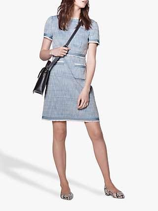 L.K.Bennett Sidney Tweed Shift Dress, Blue