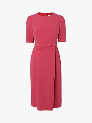 L.K.Bennett Elina Belted Shift Dress, Raspberry