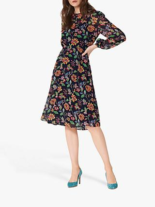 L.K.Bennett Evalina Floral Dress, Midnight