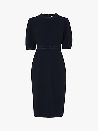 L.K.Bennett Wren Round Neck Dress, Black