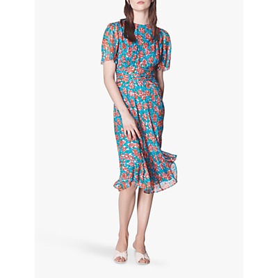 L.K.Bennett Eve Tie Waist Spot Dress, Multi