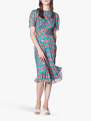 L.K.Bennett Eve Tie Waist Spot Dress, Multi
