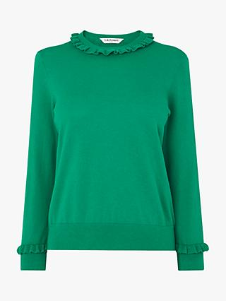 L.K.Bennett Hazel Wool Blend Jumper, Emerald