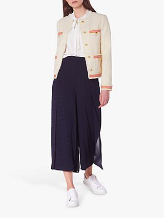 L.K.Bennett Soraya Tweed Ribbon Jacket, Cream