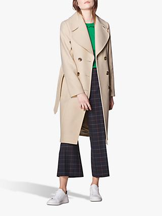 L.K.Bennett Sophie Wool Blend Trench Coat, Oyster