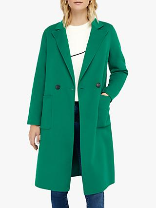 Monsoon Rachel Midi Coat, Green