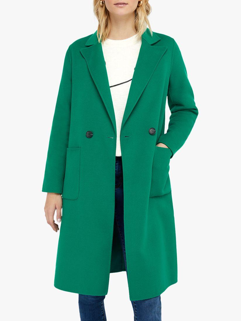 Monsoon Monsoon Rachel Midi Coat, Green