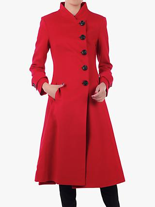 Jolie Moi Button Front Flared Coat
