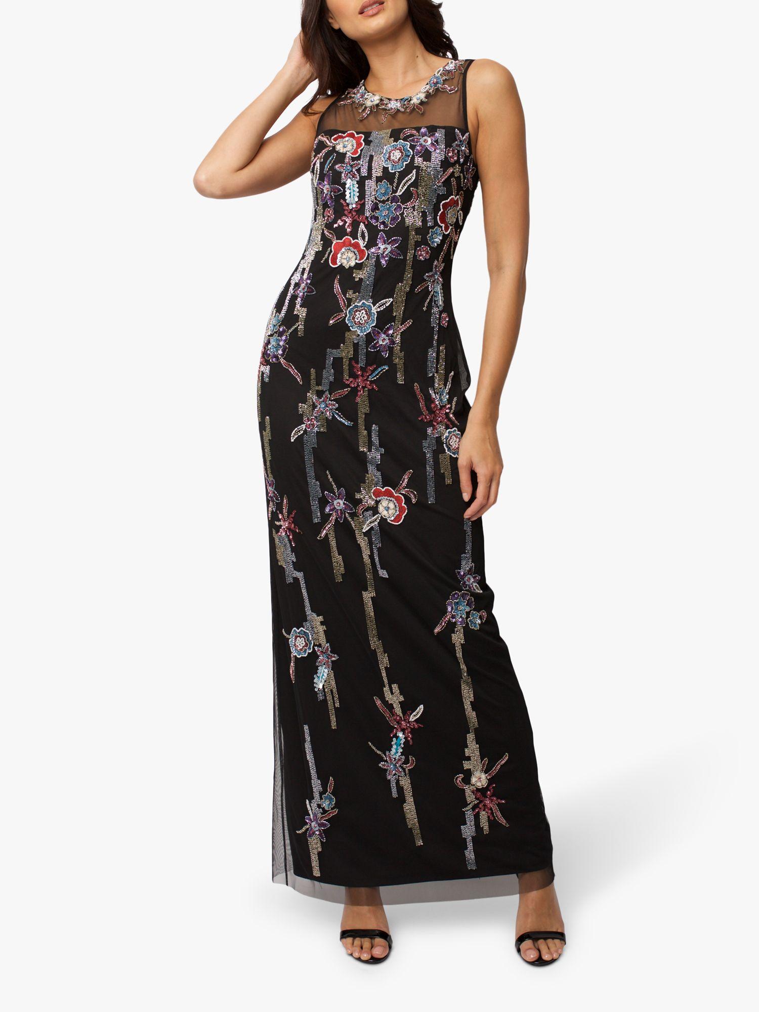 RAISHMA Raishma Evelyn Embellished Gown, Black/Multi