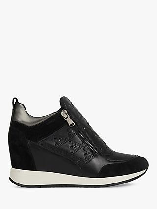 Geox Women's Nydame Zip Detail Trainers, Black