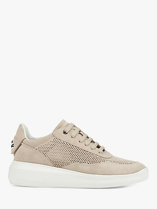 Geox Women's Rubidia Perforated Suede Wedge Trainers