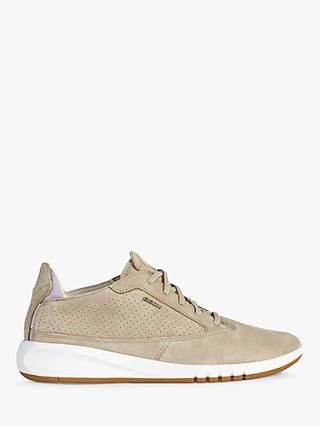 Geox Aerantis Leather Trainers, Taupe