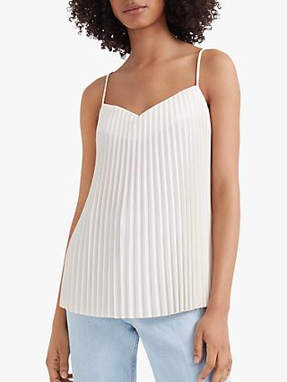 Club Monaco Pleated Front Cami Top