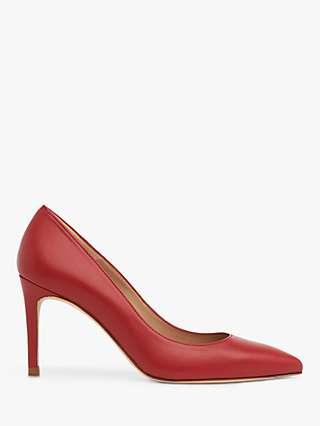 L.K.Bennett Floret Pointed Toe Court Shoes, Red Roca