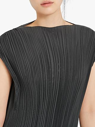 Club Monaco Micro Pleat Top, Dark Olive