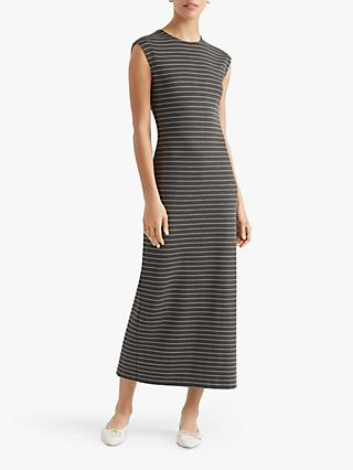 Club Monaco Polished Ponte Knit Maxi Dress, Stripe