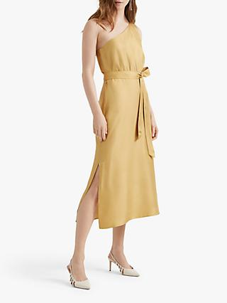 Club Monaco Asymmetrical Waisted Midi Dress, Yellow