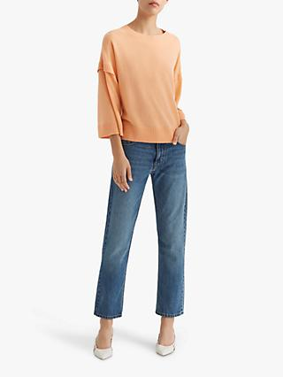 Club Monaco Wide Sleeve Boat Neck Cashmere Top, Sherbert