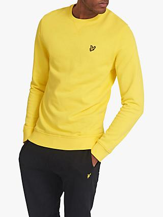 Lyle & Scott Crew Neck Sweatshirt, Buttercup Yellow
