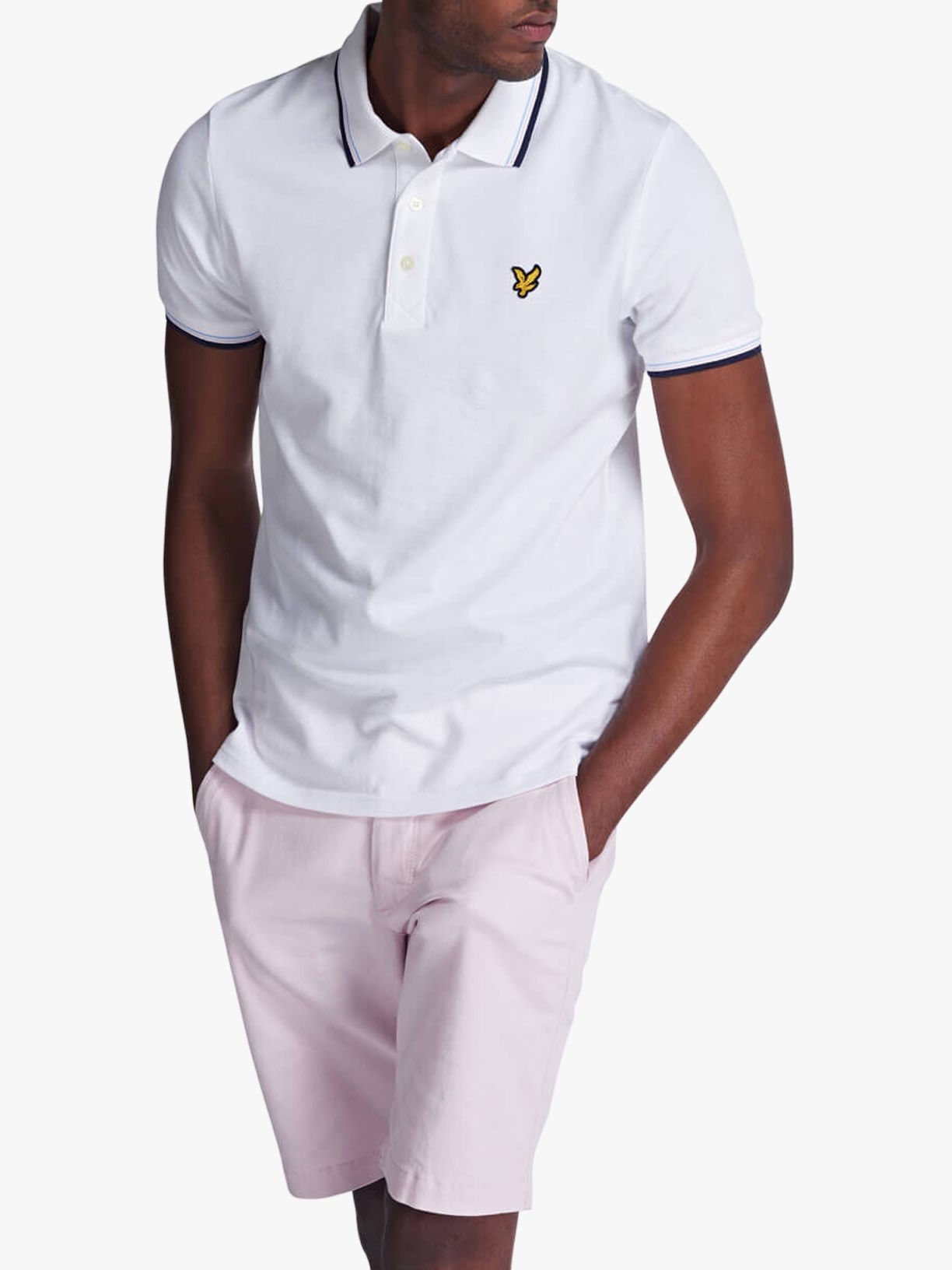 Lyle & Scott Lyle & Scott Tipped Regular Fit Stretch Polo Shirt