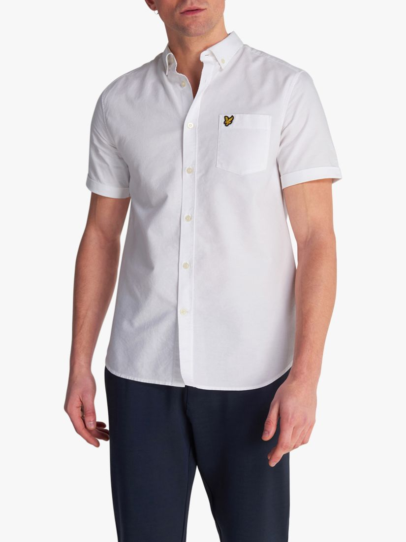 Lyle & Scott Lyle & Scott Short Sleeve Oxford Shirt, White