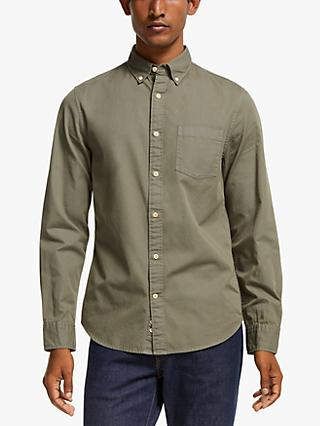 John Lewis & Partners Garment Dye Cotton Twill Slim Fit Shirt