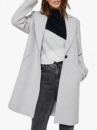 Mint Velvet Wool Blend Boyfriend Coat