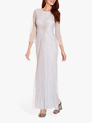 Adrianna Papell Beaded Gown, Cloud
