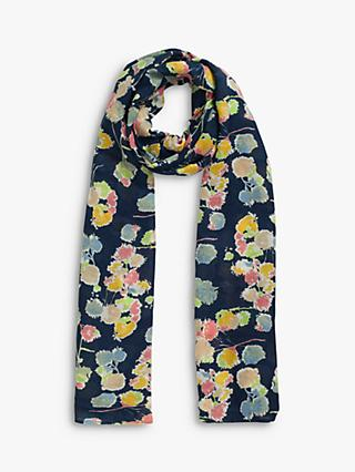 Jigsaw Candy Floral Scarf, Blue/Multi