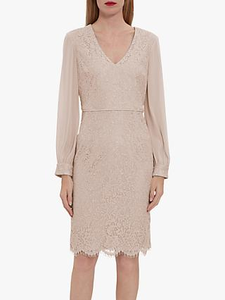 Gina Bacconi Auria Lace Chiffon Dress