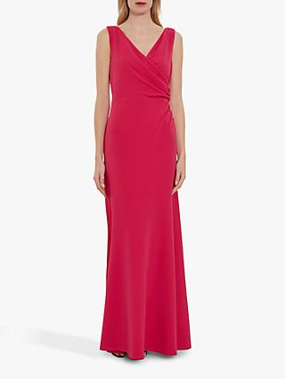Gina Bacconi Gilberta Crepe Maxi Dress