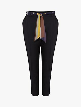 Phase Eight Bronwen Scarf Belt Trousers, Navy