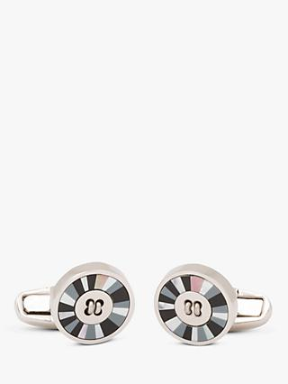 Paul Smith Mother of Pearl Stripe Button Cufflinks, Mono