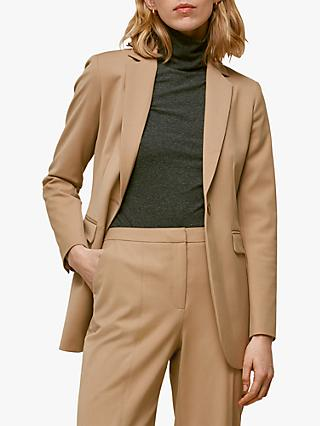 Whistles Sonia Single Breasted Jacket, Camel