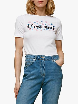 Whistles C'est Moi Slogan T-Shirt, White