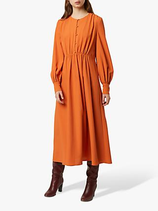 French Connection Essi Crepe Midi Dress, Mulled Orange