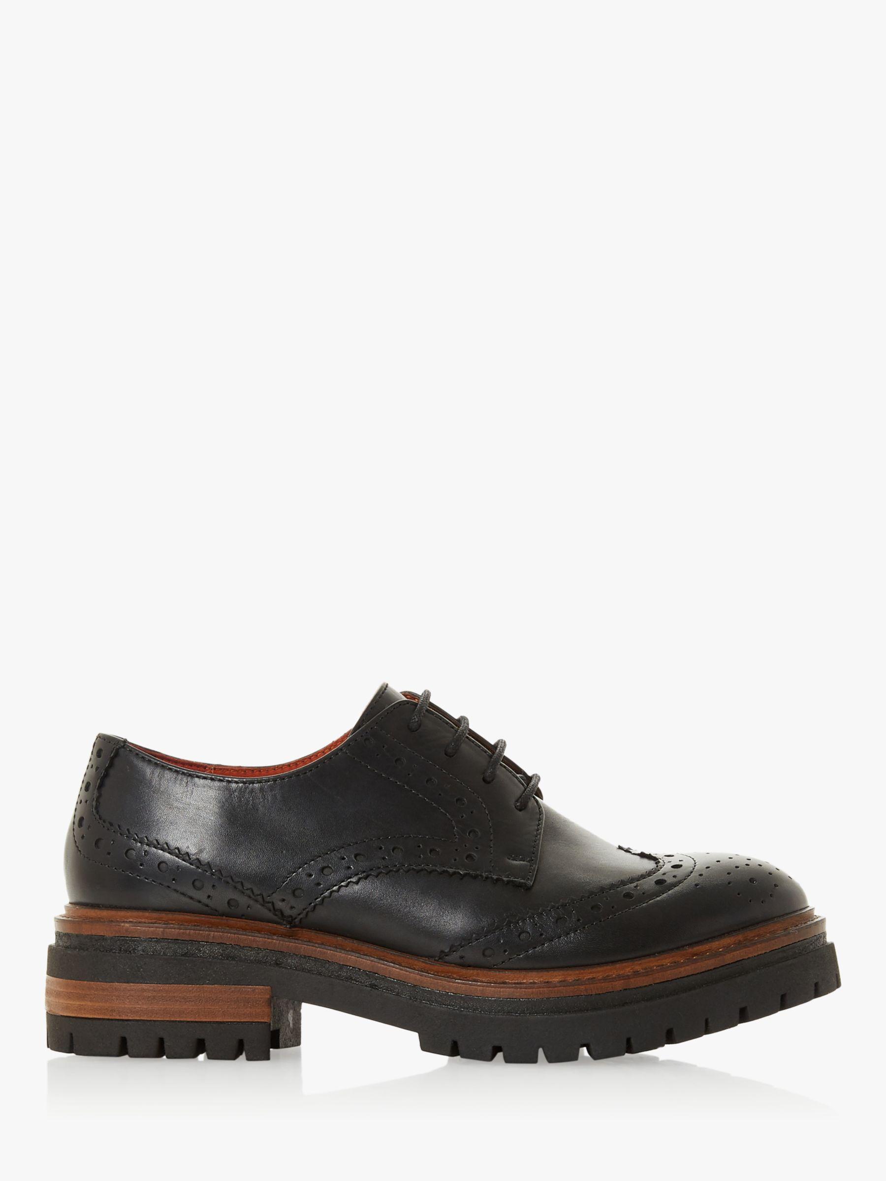 Bertie Bertie Fantasy Leather Lace Up Brogues, Black