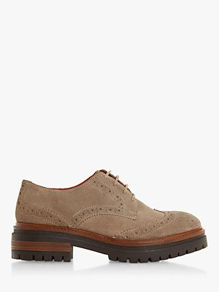 Bertie Fantasy Suede Lace Up Brogues, Taupe