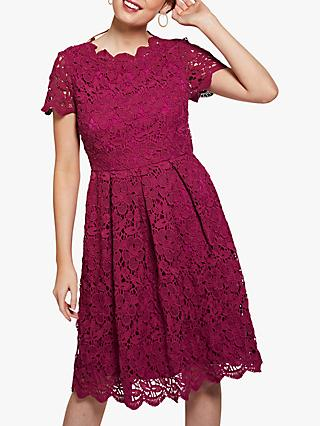 Yumi Flared Guipure Lace Dress