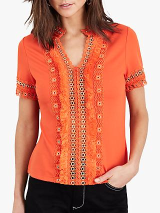 Damsel in a Dress Kera Eyelet Jersey Top