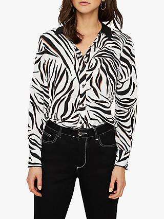 Damsel in a Dress Eliza Zebra Blouse, Neutral
