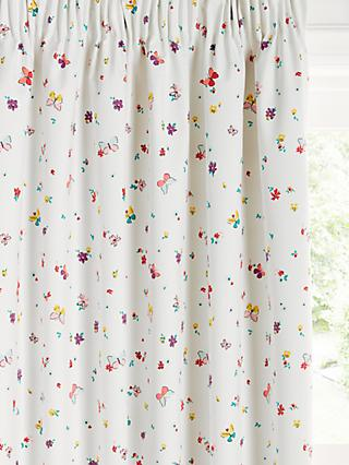 little home at John Lewis Butterflies Ditsy Print Pencil Pleat Blackout Children's Curtains, Multi